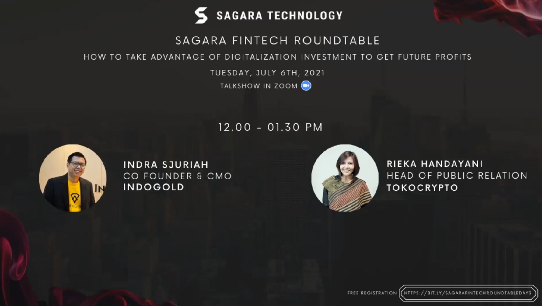 Sagara Fintech Roundtable - How to Take Advantage of Digitalization Investment to Get Future Profit