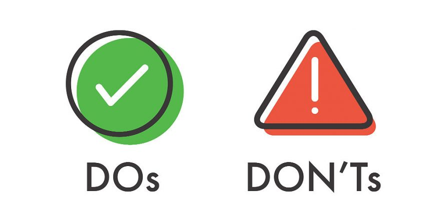 Do's and Don'ts Surfing the Internet